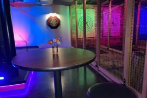 District Social Does Arcade Games and Axe Throwing in Beacon